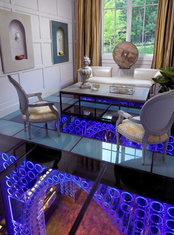 glass floor tiles