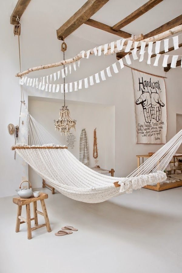 22 Ways To Relax At Home Indoor Hammock Bed LittlePieceOfMe