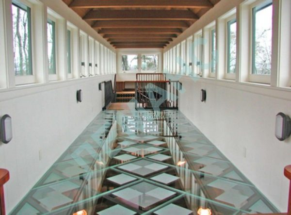 glass tile floors