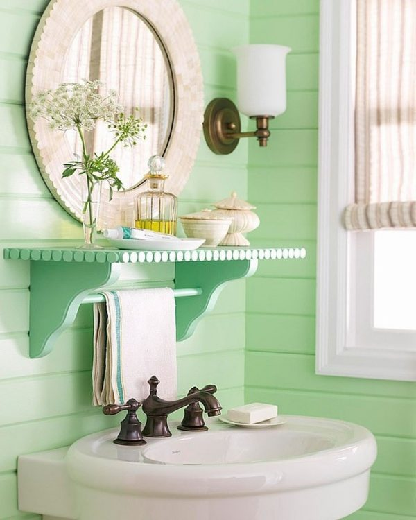 vintage bathroom shelf