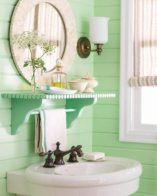 vintage bathroom shelf