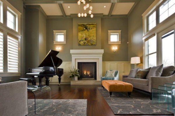 living room grand piano