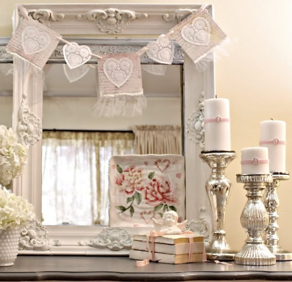 Shabby chic valentine decor