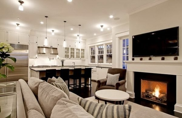 Open Kitchen With Living Room Designs LittlePieceOfMe