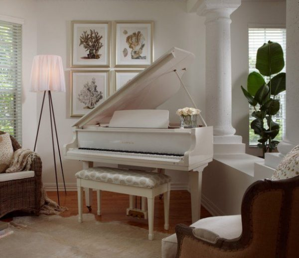How To Decorate My Living Room: 26 Piano Room Decor Ideas