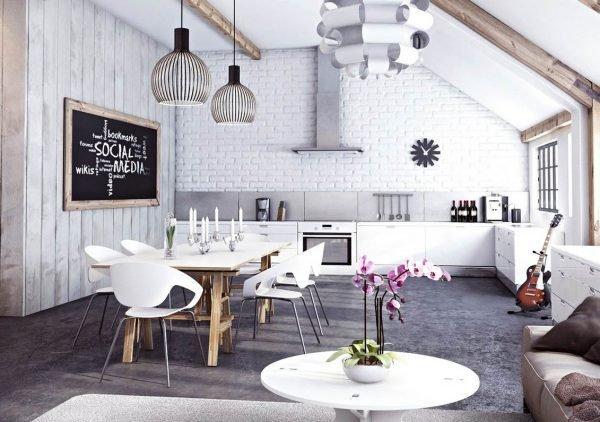 30 White brick walls in the interior