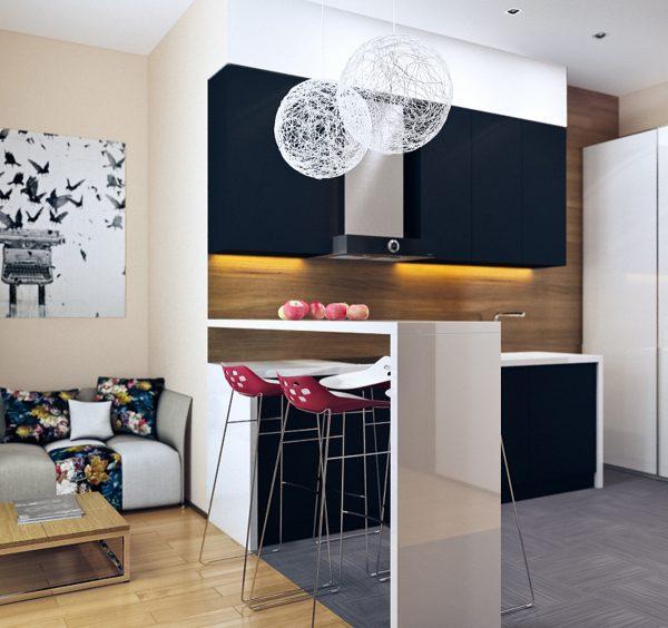 small kitchen living room design