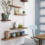 White brick walls for trendy home
