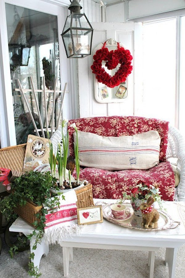 Shabby chic decor for most romantic valentine 39 s day for Valentines room decor