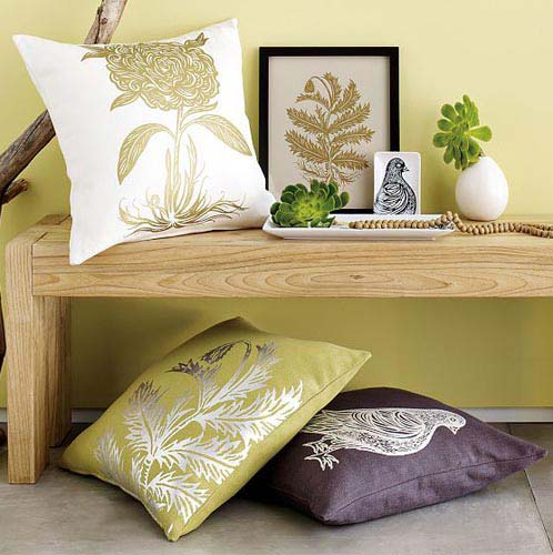 decorate pillows