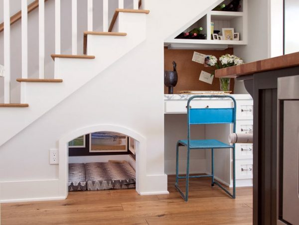 ideas for under the stairs