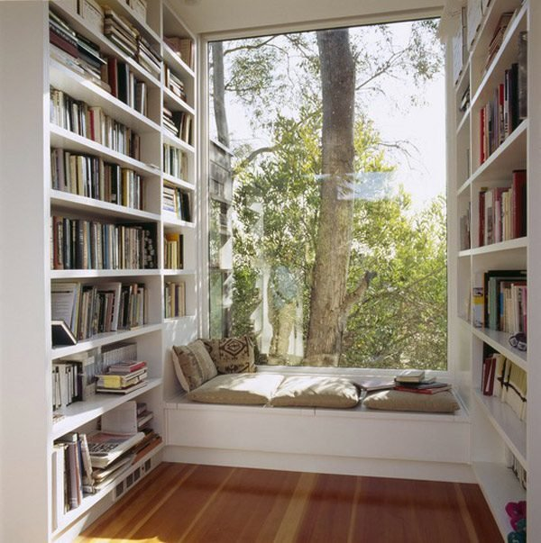 bookshelf reading nook