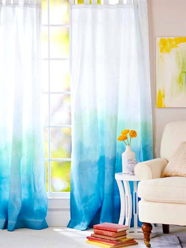 ombre window curtains