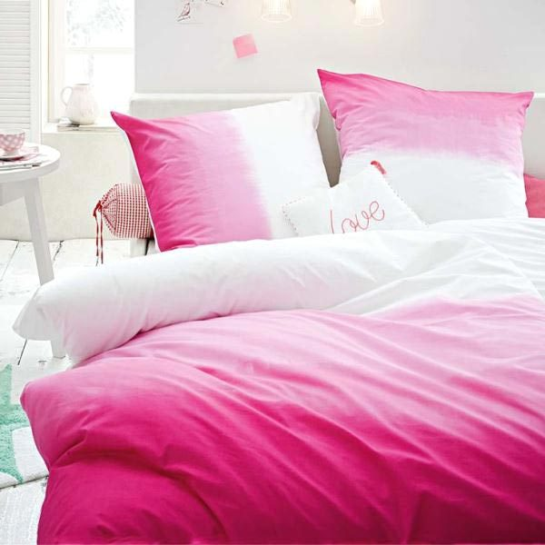 diy ombre bedding