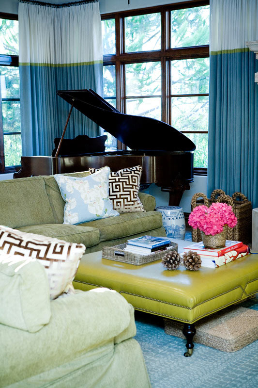 piano in small living room