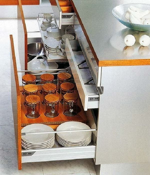 Kitchen cabinets with drawers 16 functional storage - How to organize kitchen drawers and cabinets ...