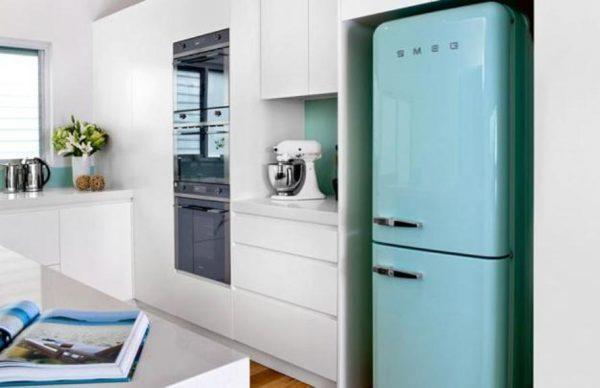 vintage style refrigerator