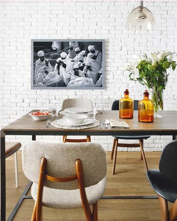 white brick walls interior