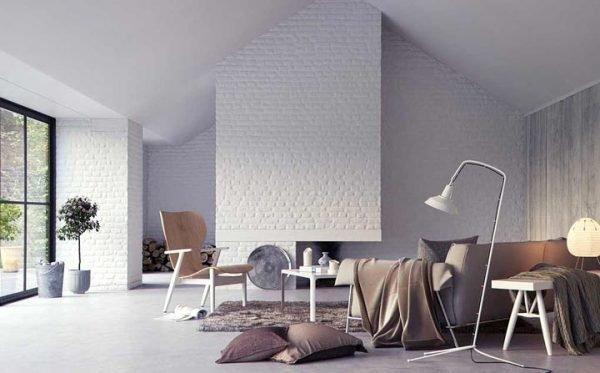 white brick interior