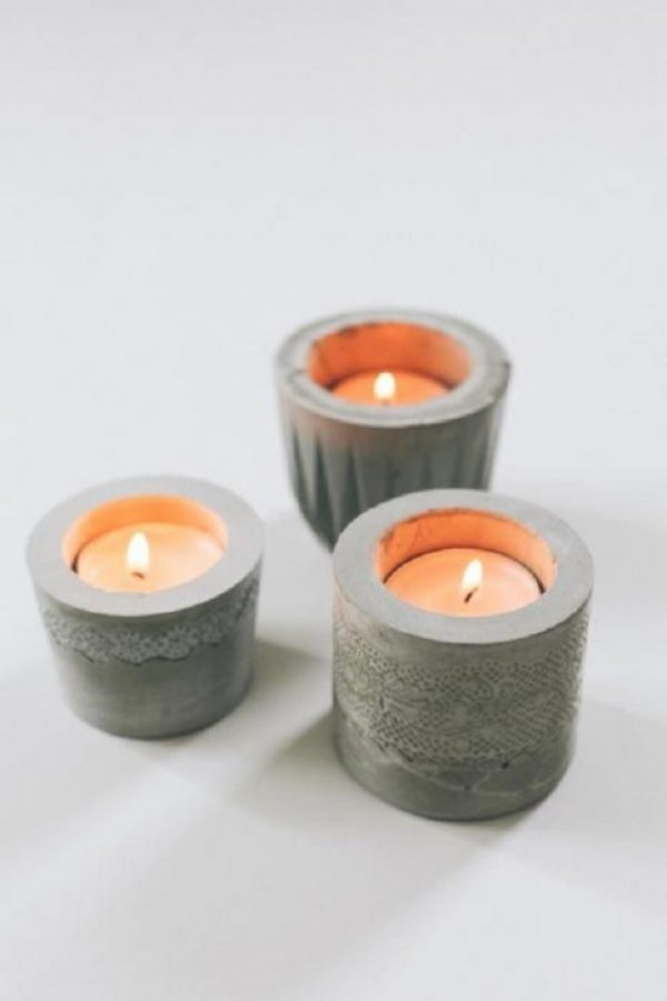 concrete candle holder 1