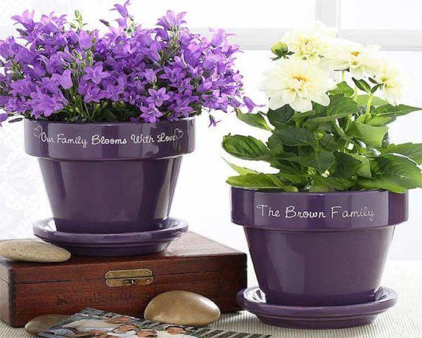 personalized flower pots