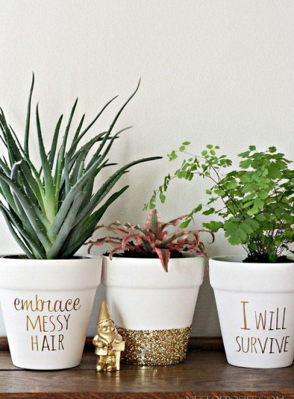 decorating flower pots ideas
