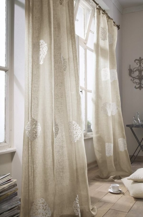 burlap curtain ideas