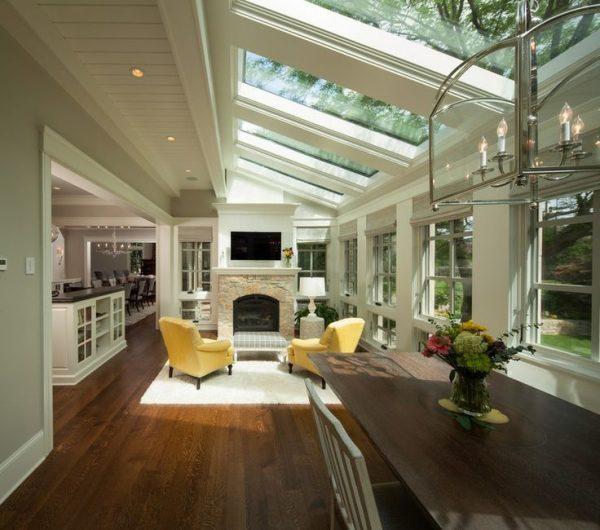 Living room skylights
