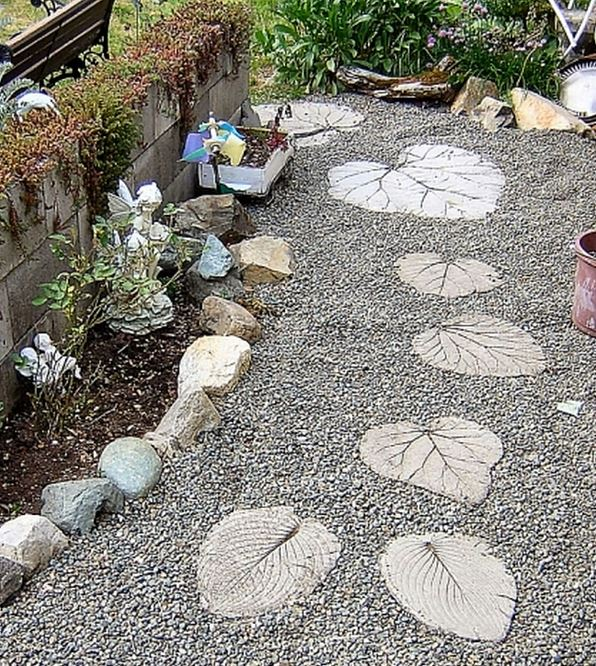 cement stepping stones