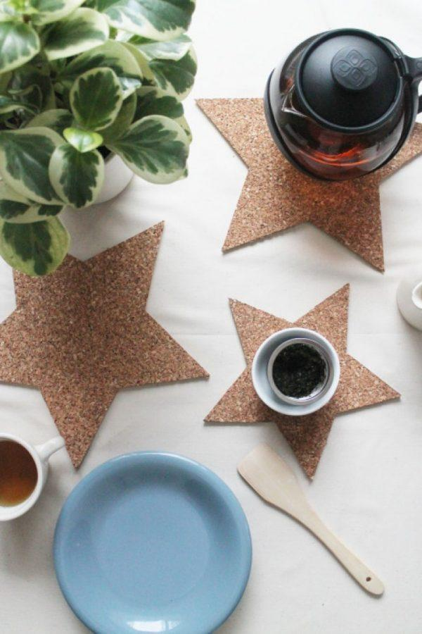 make your own cork coasters