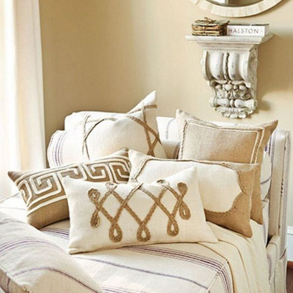 burlap decorative pillows