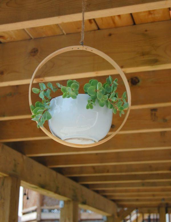 wooden plant hangers