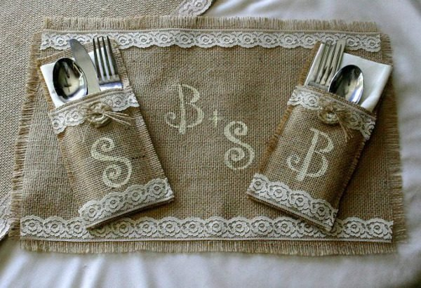 burlap home accessories