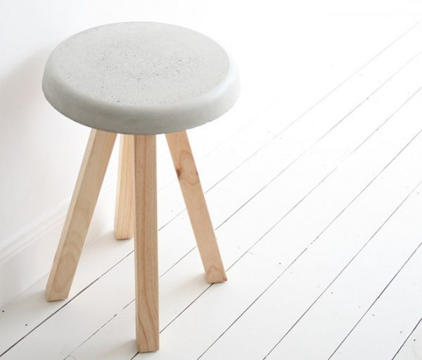 diy concrete chair