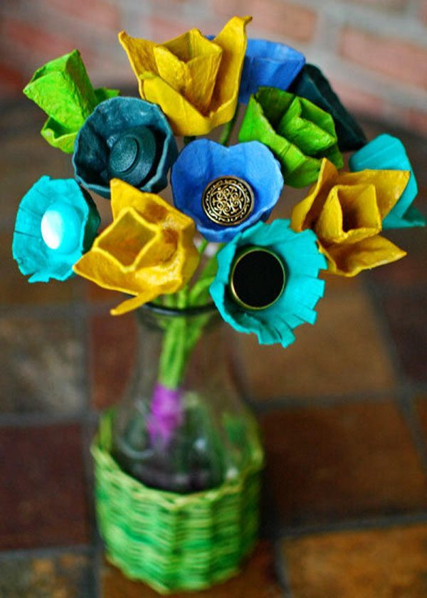 23 egg carton crafts ideas little piece of me Egg carton flowers ideas