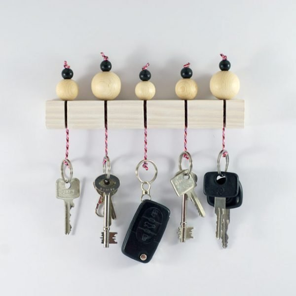 wood key holder for wall