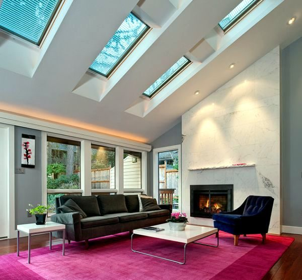 25 Captivating Ideas For Kitchens With Skylights: Living Room Skylights For Your Dream Home