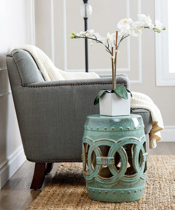 garden stool side table