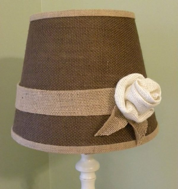 home decor with burlap