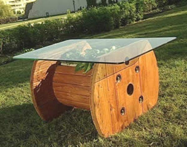 wooden spool tables