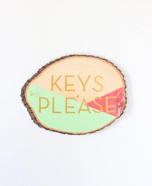 wooden key holder designs