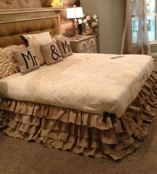 burlap bedroom decor