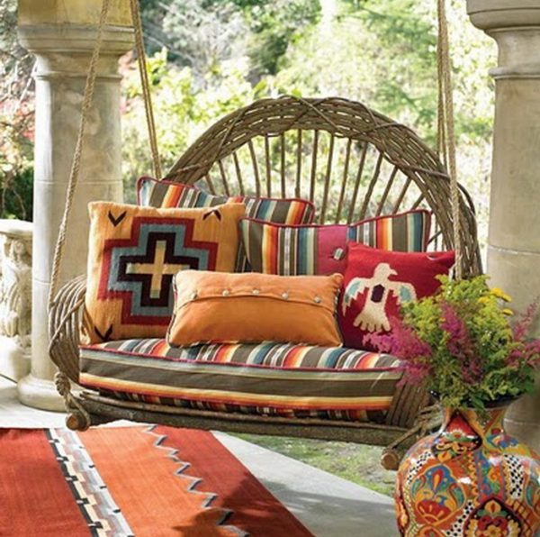 Porch swing decor