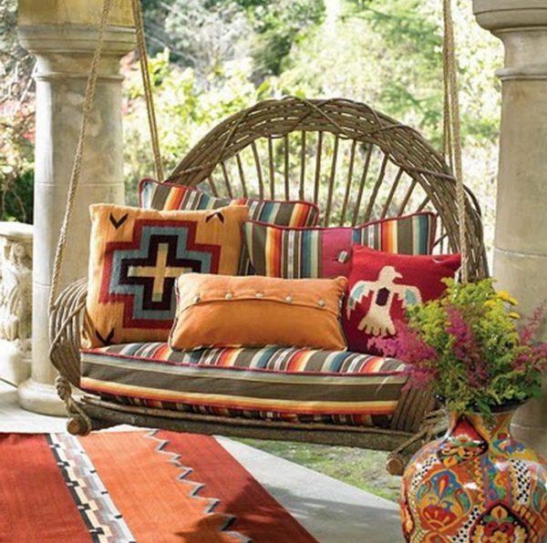 Porch swing decor