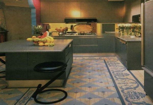 painted kitchen floor 1