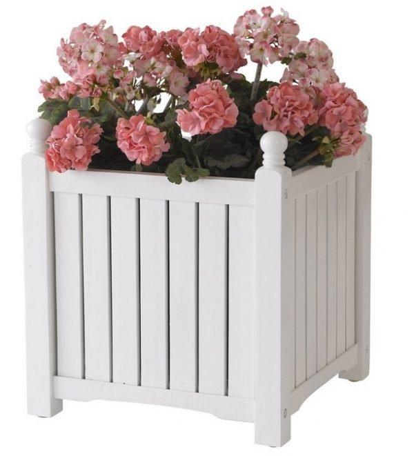 Wooden flowerpot