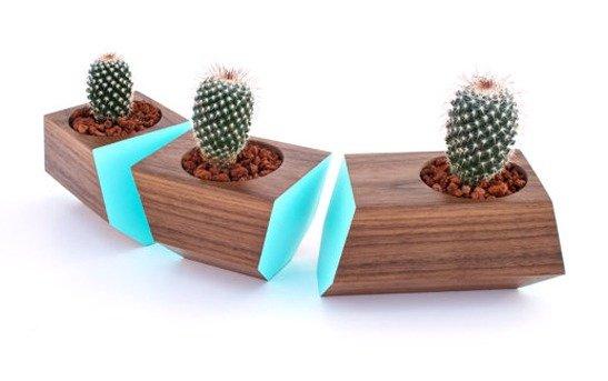 wooden flower planters