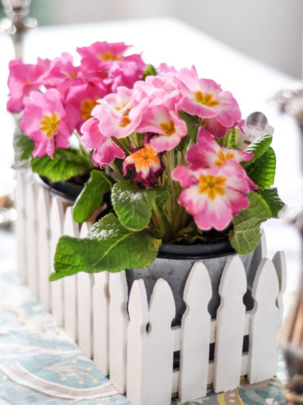 fence flower artificial flower decoration