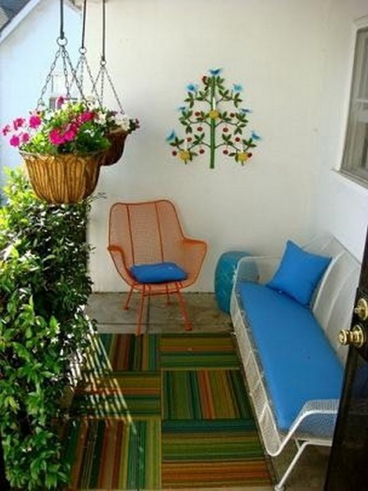 11 lovely small balcony decorating ideas little piece of me - Ideas terrazas pequenas ...