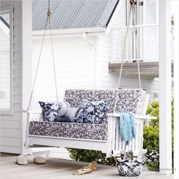 Beautiful outdoor swing